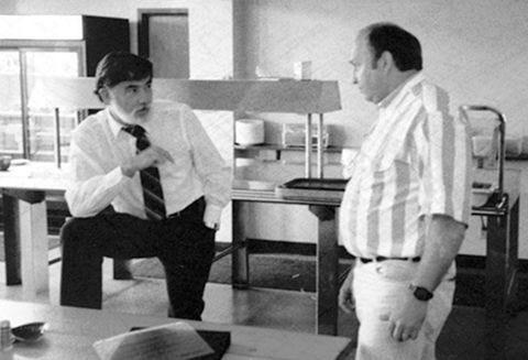 Wood-Mizer founders Don Laskowski (left) and Dan Tekulve